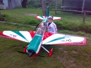 Fusoliera Yak 54 100cc mt 2,58 + Deriva