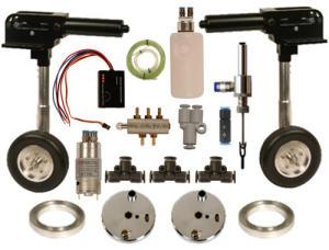 Kit Completo Retrattili idraulico per 2 ruote 20 Kg. - 90°120°