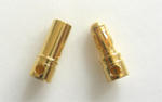 Connettori Dorati 3,5 mm. (Conf. da 5 coppie)