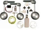 Kit Completo Retrattili idraulico per 3 ruote 20 Kg. - 90°120°